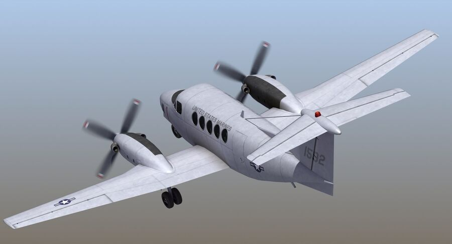 C-12休伦 royalty-free 3d model - Preview no. 10