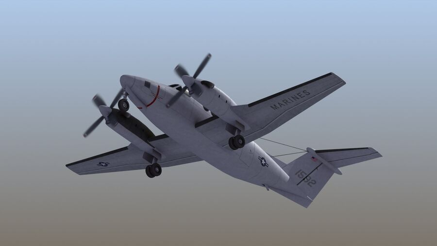 C-12休伦 royalty-free 3d model - Preview no. 51