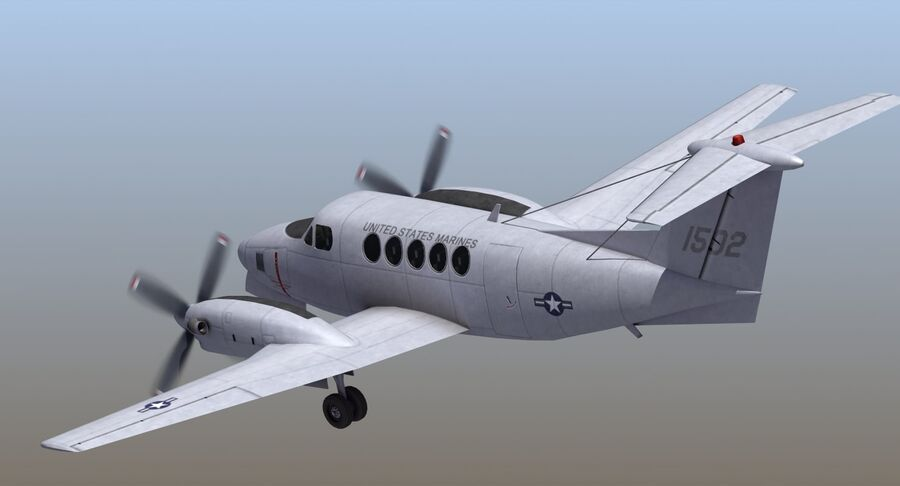 C-12休伦 royalty-free 3d model - Preview no. 23