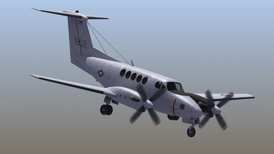 C-12休伦 royalty-free 3d model - Preview no. 4