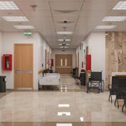 Krankenhaus-Innenszene 3d model