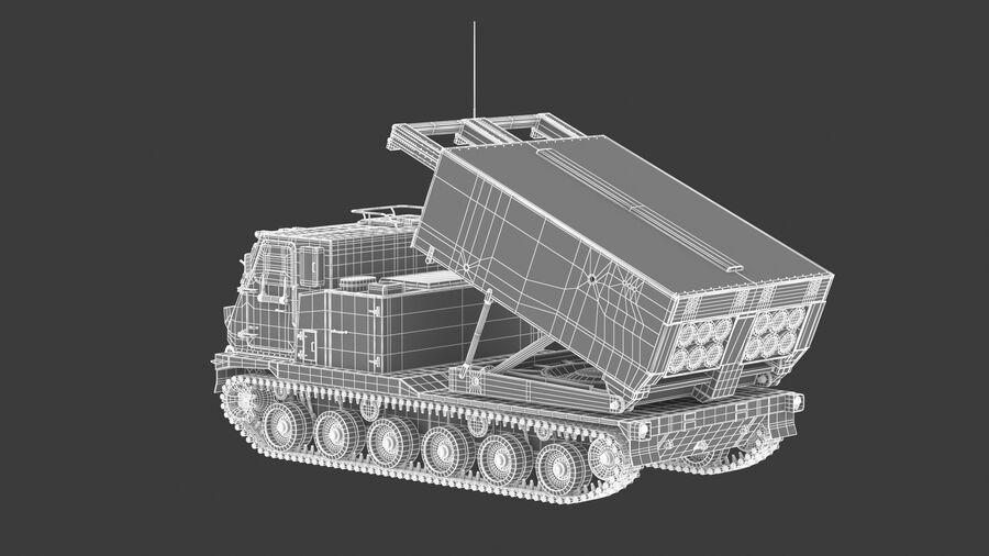 M270 Raketensystem mit mehreren Starts (MLRS) royalty-free 3d model - Preview no. 30