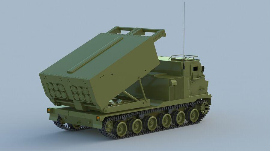 M270 Raketensystem mit mehreren Starts (MLRS) royalty-free 3d model - Preview no. 13