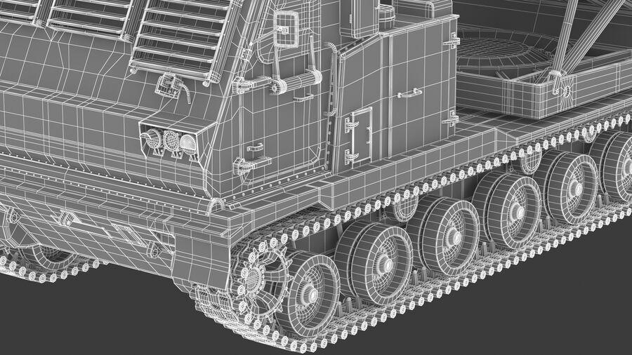 M270 Raketensystem mit mehreren Starts (MLRS) royalty-free 3d model - Preview no. 37