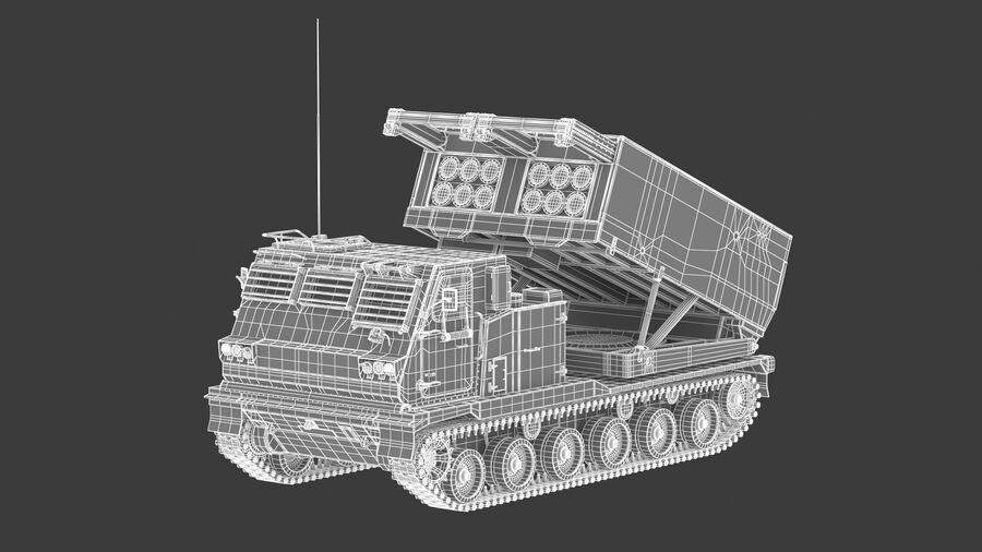 M270 Raketensystem mit mehreren Starts (MLRS) royalty-free 3d model - Preview no. 27