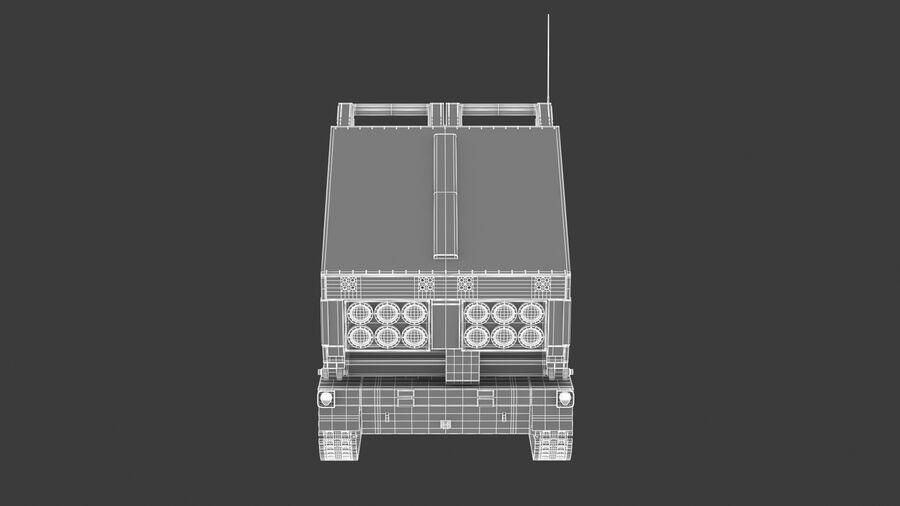 M270 Raketensystem mit mehreren Starts (MLRS) royalty-free 3d model - Preview no. 31