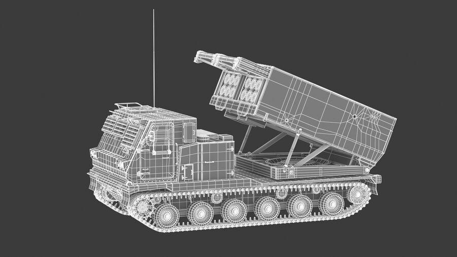 M270 Raketensystem mit mehreren Starts (MLRS) royalty-free 3d model - Preview no. 28