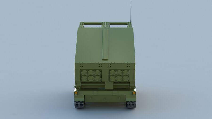 M270 Raketensystem mit mehreren Starts (MLRS) royalty-free 3d model - Preview no. 12