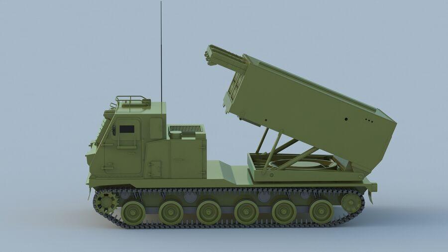 M270 Raketensystem mit mehreren Starts (MLRS) royalty-free 3d model - Preview no. 9