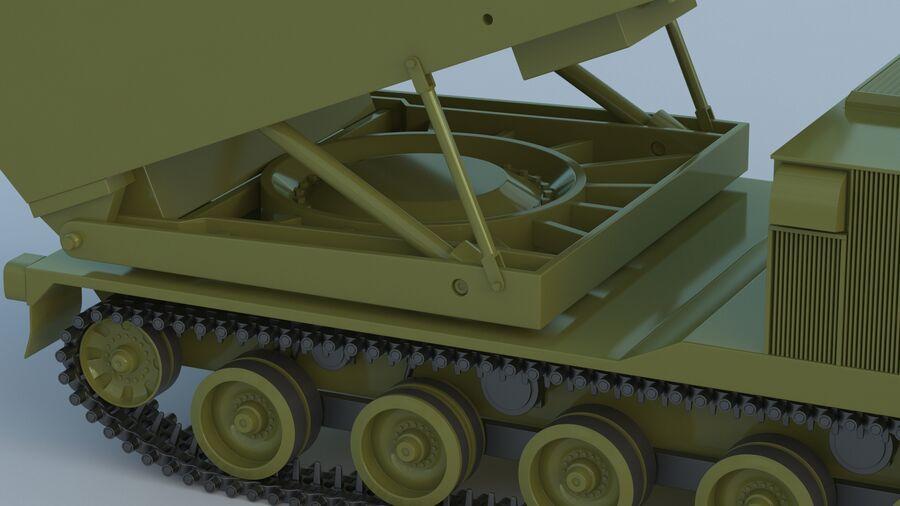 M270 Raketensystem mit mehreren Starts (MLRS) royalty-free 3d model - Preview no. 14