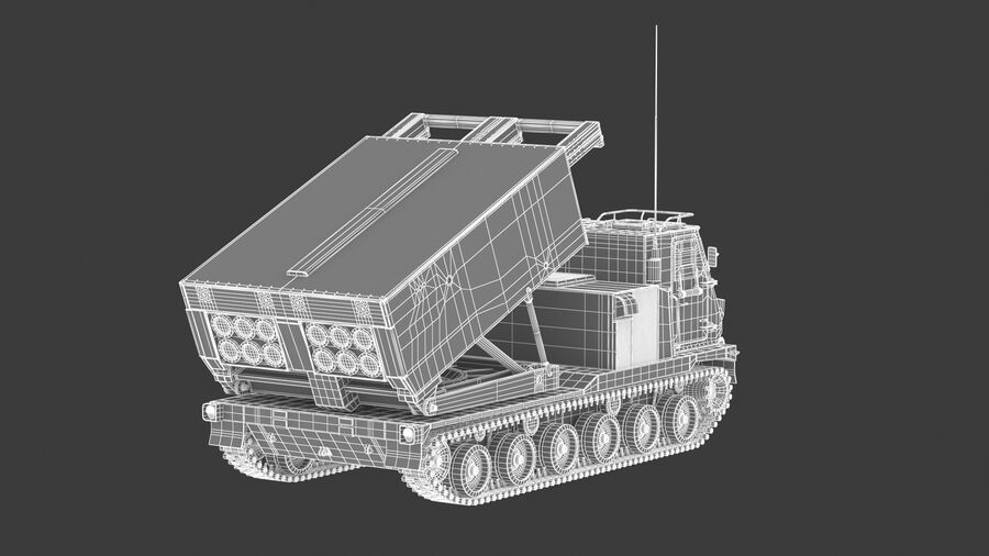 M270 Raketensystem mit mehreren Starts (MLRS) royalty-free 3d model - Preview no. 32