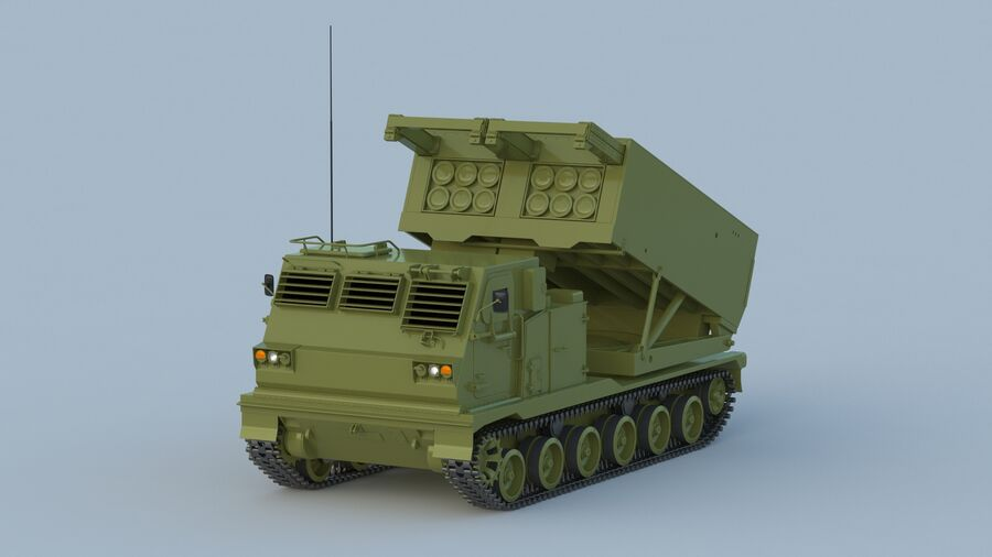 M270 Raketensystem mit mehreren Starts (MLRS) royalty-free 3d model - Preview no. 7