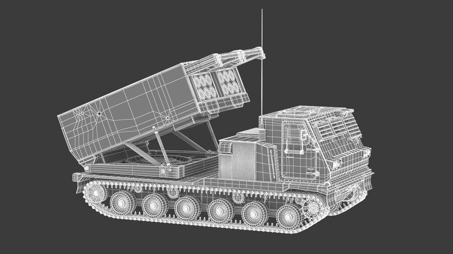 M270 Raketensystem mit mehreren Starts (MLRS) royalty-free 3d model - Preview no. 24