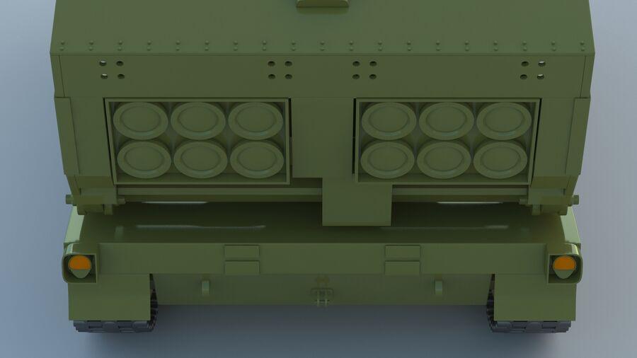M270 Raketensystem mit mehreren Starts (MLRS) royalty-free 3d model - Preview no. 22