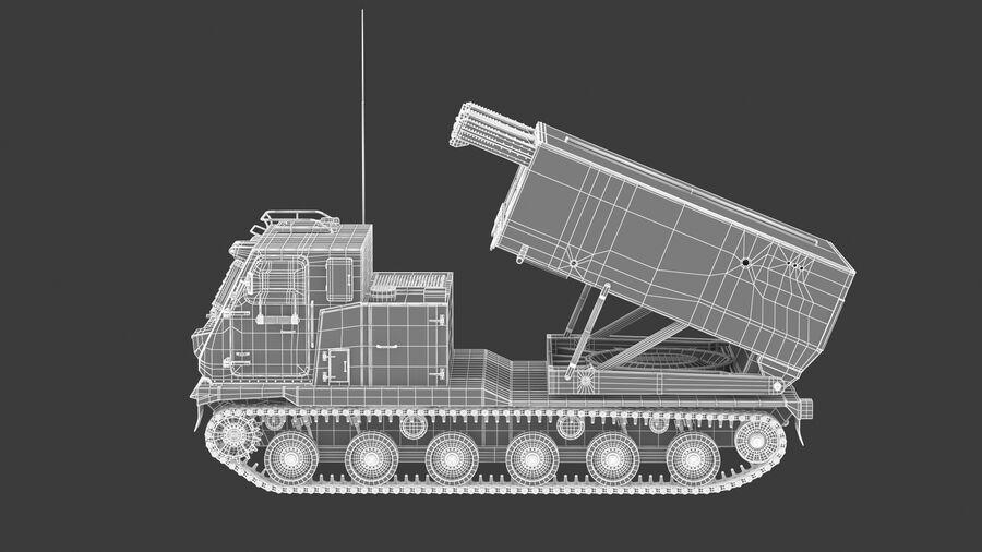 M270 Raketensystem mit mehreren Starts (MLRS) royalty-free 3d model - Preview no. 29