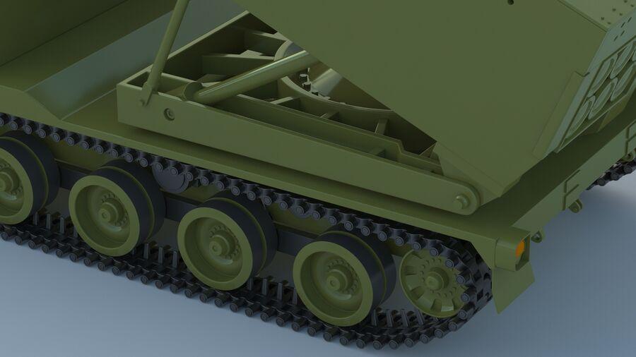 M270 Raketensystem mit mehreren Starts (MLRS) royalty-free 3d model - Preview no. 20
