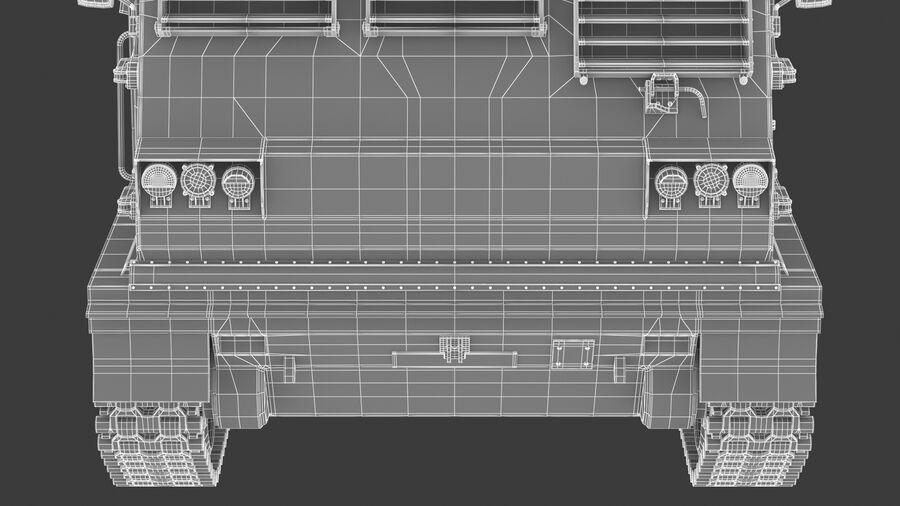 M270 Raketensystem mit mehreren Starts (MLRS) royalty-free 3d model - Preview no. 36