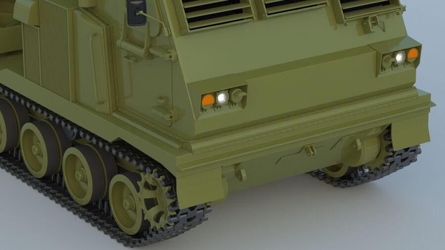 M270 Raketensystem mit mehreren Starts (MLRS) royalty-free 3d model - Preview no. 15