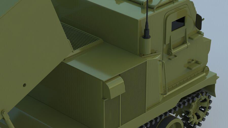 M270 Raketensystem mit mehreren Starts (MLRS) royalty-free 3d model - Preview no. 23