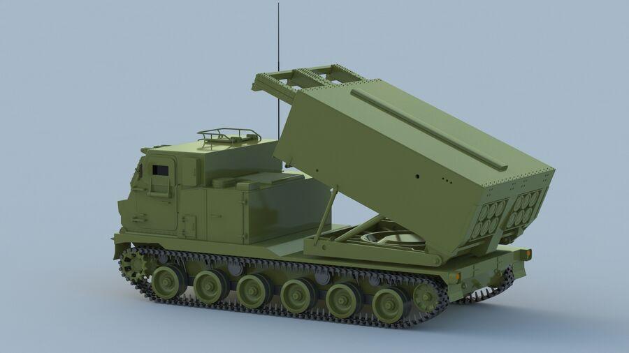 M270 Raketensystem mit mehreren Starts (MLRS) royalty-free 3d model - Preview no. 10