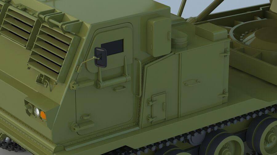 M270 Raketensystem mit mehreren Starts (MLRS) royalty-free 3d model - Preview no. 18
