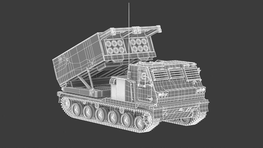 M270 Raketensystem mit mehreren Starts (MLRS) royalty-free 3d model - Preview no. 25