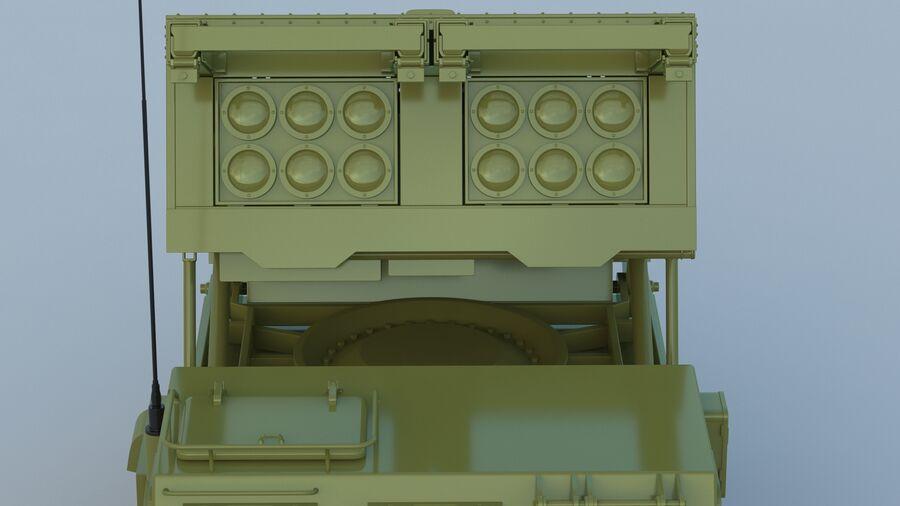 M270 Raketensystem mit mehreren Starts (MLRS) royalty-free 3d model - Preview no. 16