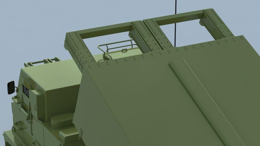M270 Raketensystem mit mehreren Starts (MLRS) royalty-free 3d model - Preview no. 21
