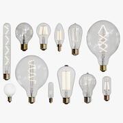 Coleção de lâmpadas 3d model