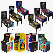 Arcade Retro and Pinball Collection 10 in 1 3d model