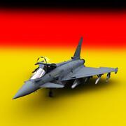 Eurofighter Typhoon Germany 3d model
