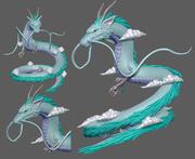 dragon form 3d model