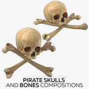 海盗头骨和骨头成分 3d model
