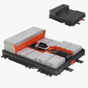 日产Leaf电池锂离子电池 3d model