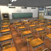 Wnętrze klasy szkolnej 3d model
