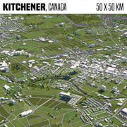 Kitchener Canada 50x50km 3d model