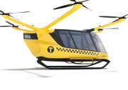 Vätgasdriven gul taxidron med inredning 3d model