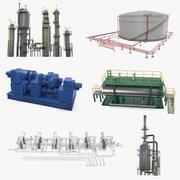 Petrol Rafinerisi Koleksiyonu 3d model
