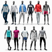 Collection de mannequins de sport homme 3d model