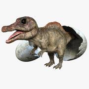 Spinosaurus Baby 3D Rigged 3d model