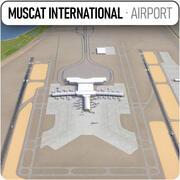 マスカット国際空港 3d model