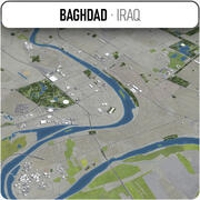 Bagdad - ville et environs 3d model