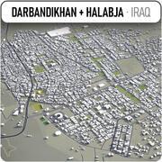 Darbandikhan + Halabja-城市及周边 3d model