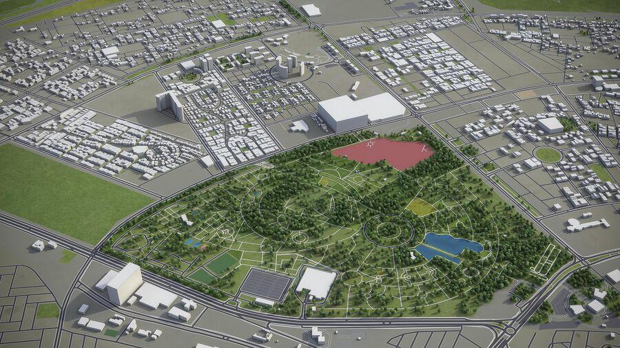 Erbil - Stadt und Umgebung royalty-free 3d model - Preview no. 6