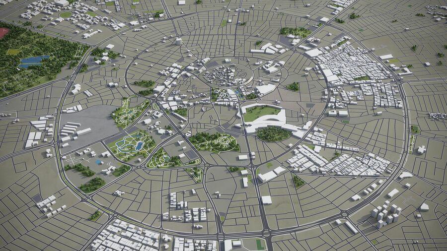 Erbil - Stadt und Umgebung royalty-free 3d model - Preview no. 2
