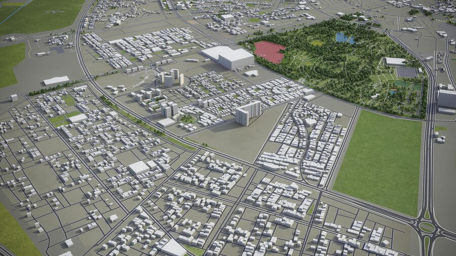 Erbil - Stadt und Umgebung royalty-free 3d model - Preview no. 4