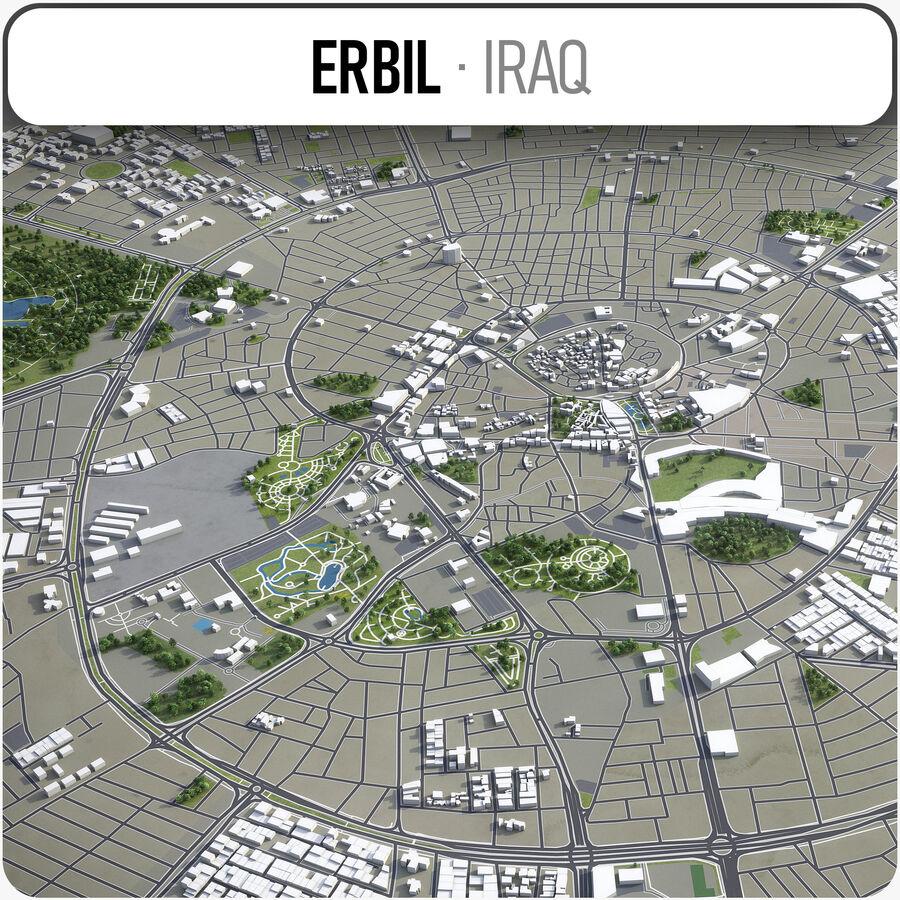 Erbil - Stadt und Umgebung royalty-free 3d model - Preview no. 1