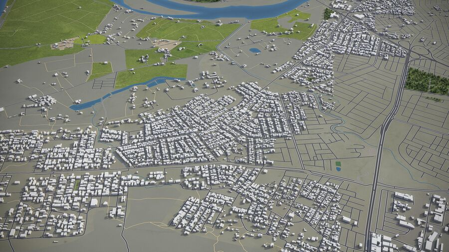 Mosul - Stadt und Umgebung royalty-free 3d model - Preview no. 6