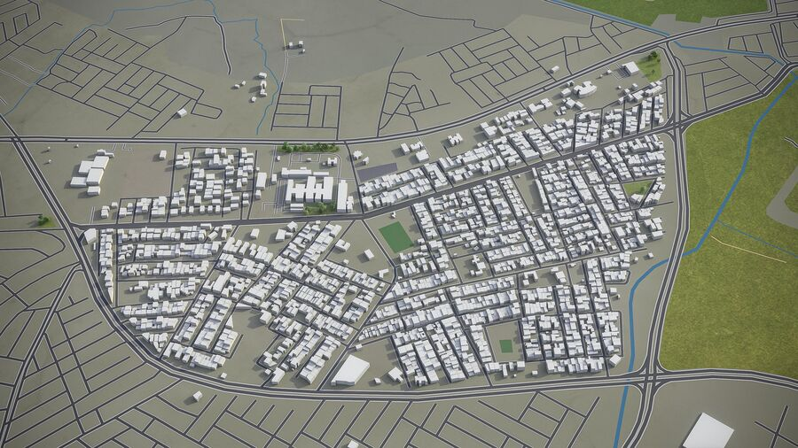 Mosul - Stadt und Umgebung royalty-free 3d model - Preview no. 5