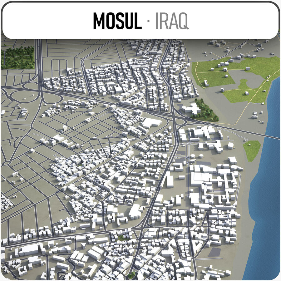 Mosul - Stadt und Umgebung royalty-free 3d model - Preview no. 1